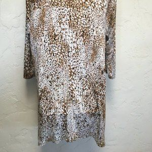 LOGO by Lori Goldstein Tops - LOGO by Lori Goldstein Animal Print Jersey Knt